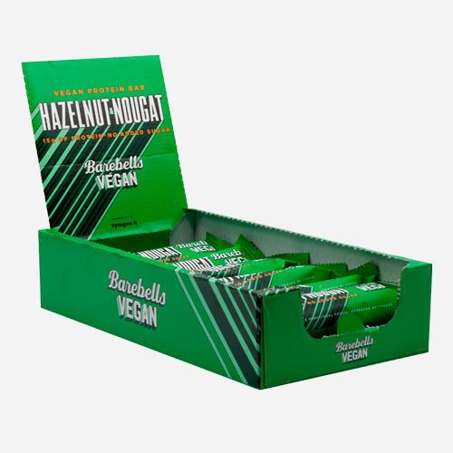 Vegan Protein Bars - Barebells - Hasselnöt Och Nougat (bäst Före 02-07-2021) - 660 Gram (12 Bars)