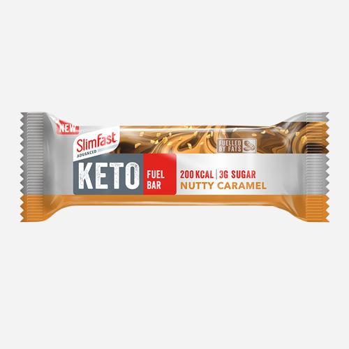 Advanced Keto Fuel Bar - Slimfast - Nutty Caramel - 552 Gram (12 Bars)