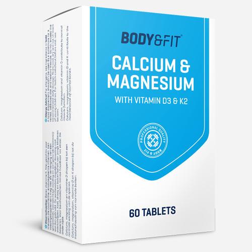 Calcium Magnesium + Vitamin D3 and K2 - Body & Fit - 60 Tabletter