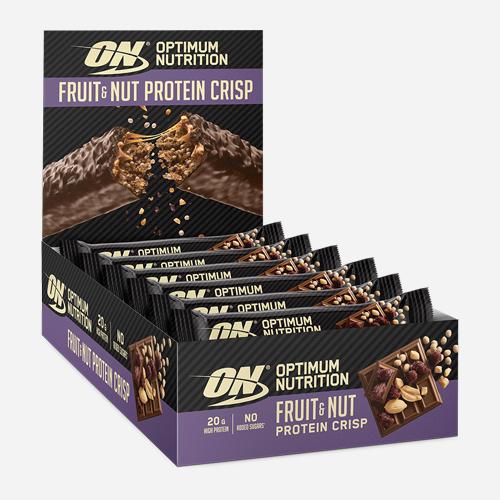 Fruit & Nut Protein Crisp Bar - Optimum Nutrition - Fruit & Nut - 10 Piece (700 Gram)