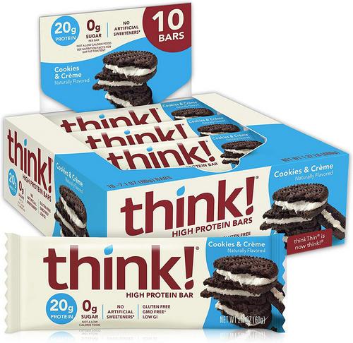 Think! Protein Bar - Think! - Cookies & Crème - 600 Gram (10 Bars)