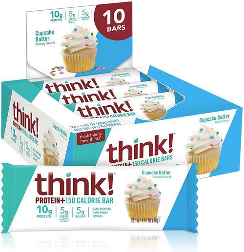 Think! Protein+ Bars (150kcal) - Think! - Cupcake Batter - 40 Gram (10 Bars)
