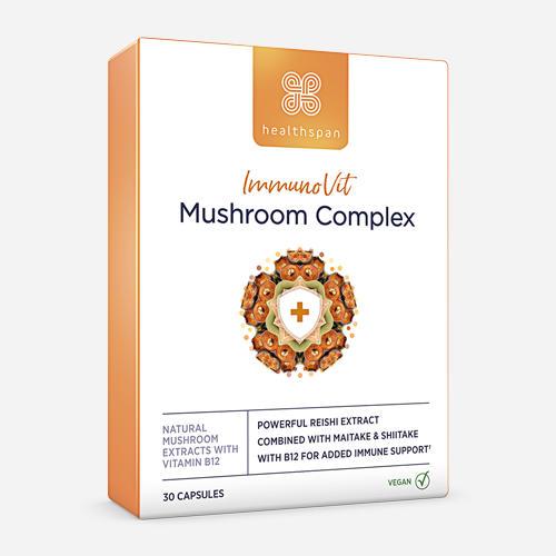 ImmunoVit Mushroom Complex - Healthspan - 30 Kapslar