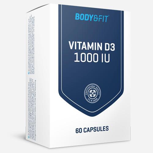 Vitamin D3 - 1000IU - Body & Fit - 60 Kapslar