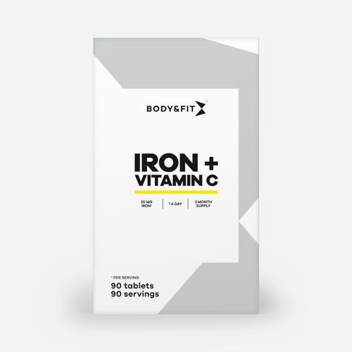 Iron and Vitamin C - Body & Fit - 90 Tabletter