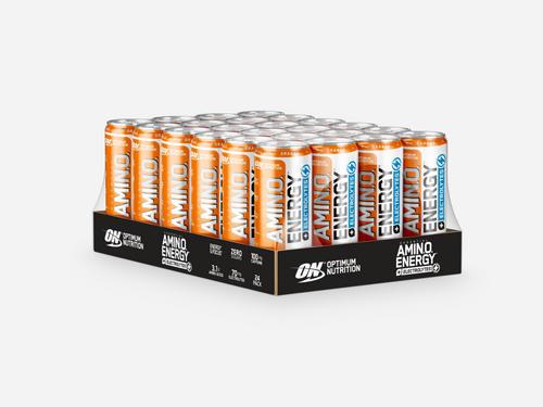 Amino NRG + Electrolytes RTD - Optimum Nutrition - Orange - 24 Enheter (250 Ml)
