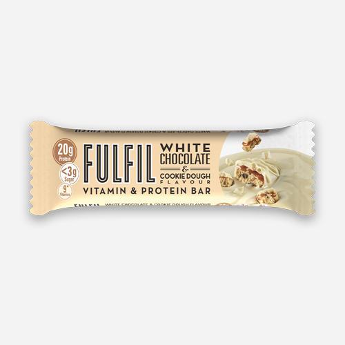 Vitamin & Protein Bars - Fulfil Nutrition - Kakdeg Med Vit Choklad - 1 Bar (55 Gram)