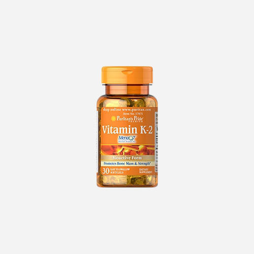 Vitamin K-2 (MenaQ7) 50mcg - Puritan's Pride - 30 Mjuka Gelégummin
