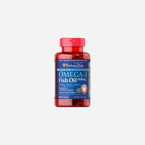 Extra Strength Omega-3 Visolie 1500 mg (450 mg Active Omega-3)