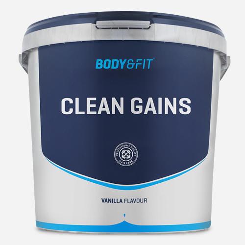Clean Gains - Body & Fit - Vanilj - 4500 Gram (50 Shakes)