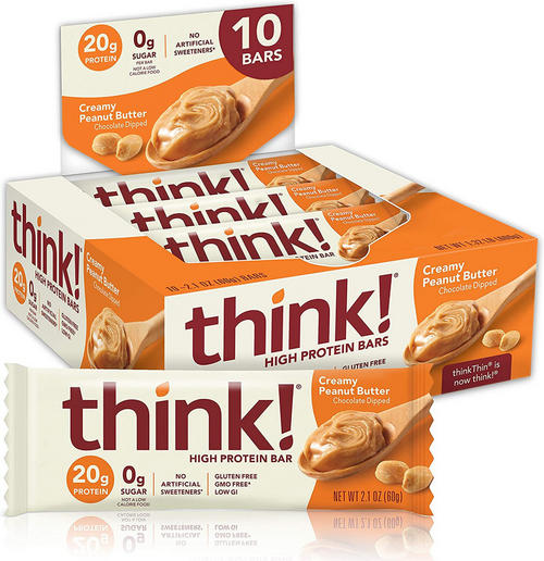 Think! Protein Bar - Think! - Creamy Peanut Butter - 600 Gram (10 Bars)