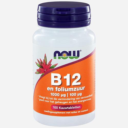 Vitamine B12 1000 mcg met 100 mcg foliumzuur