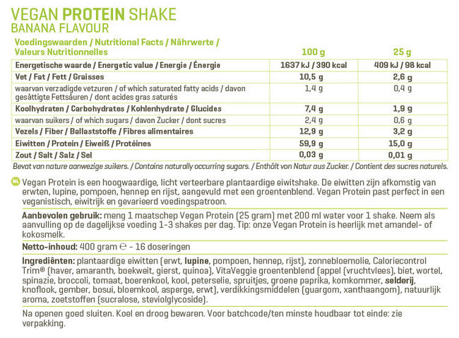Vegan Protein Nutritional Information 1