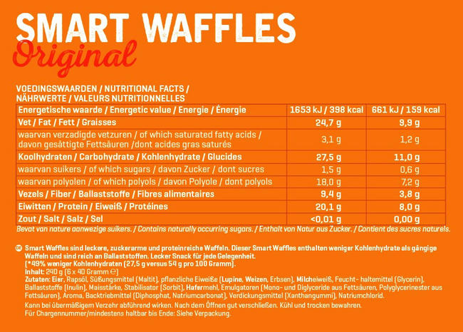 Smart Waffles Nutritional Information 1