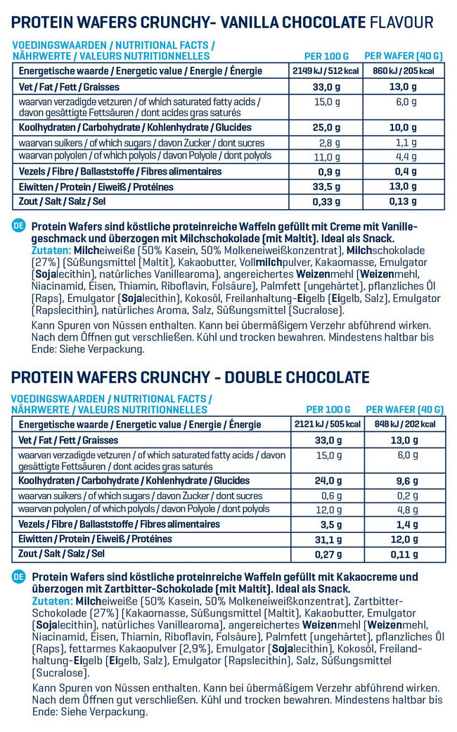 Crunchy Proteinwaffeln Nutritional Information 1