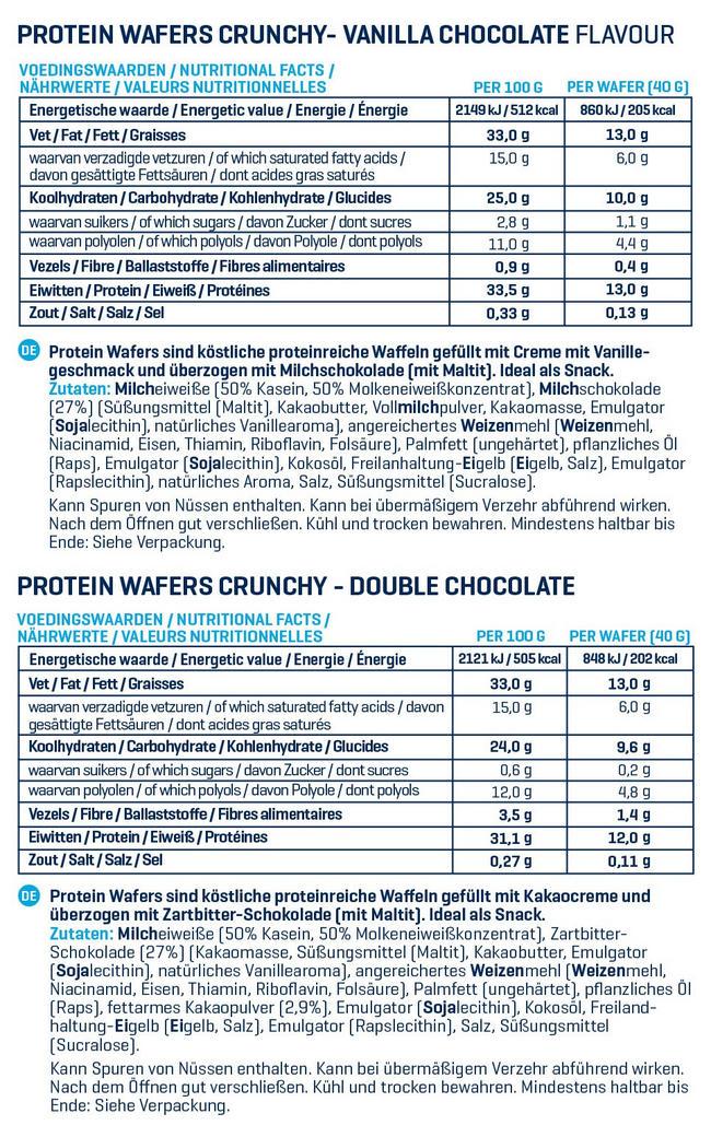 Crunchy Proteinwaffeln - Box (12X40g) Nutritional Information 1