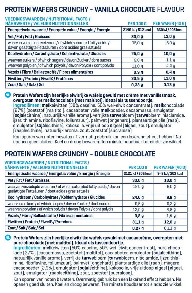 Crunchy Eiwitwafels Nutritional Information 1