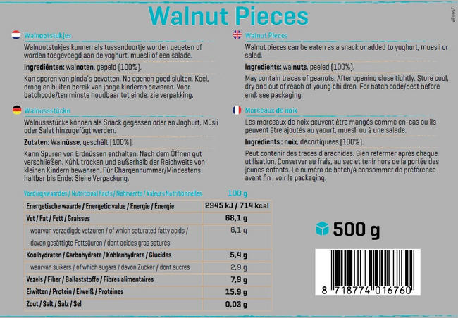 Pure Walnoot Stukjes Nutritional Information 1