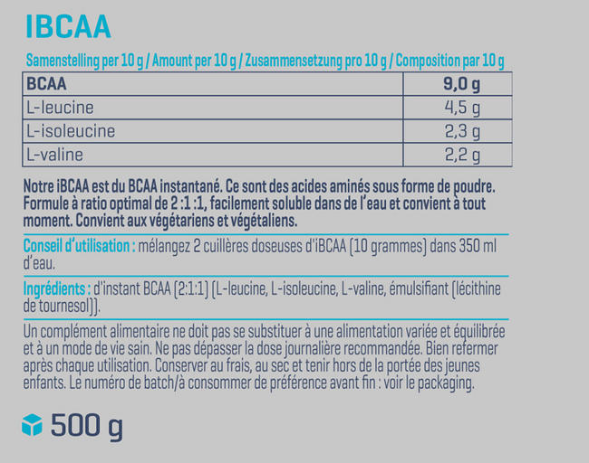 iBCAA Nutritional Information 1