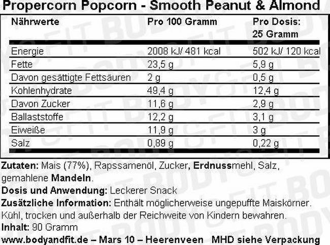 Propercorn Popcorn Nutritional Information 8