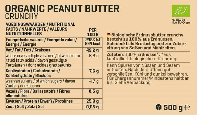 Biologische Erdnussbutter Nutritional Information 3