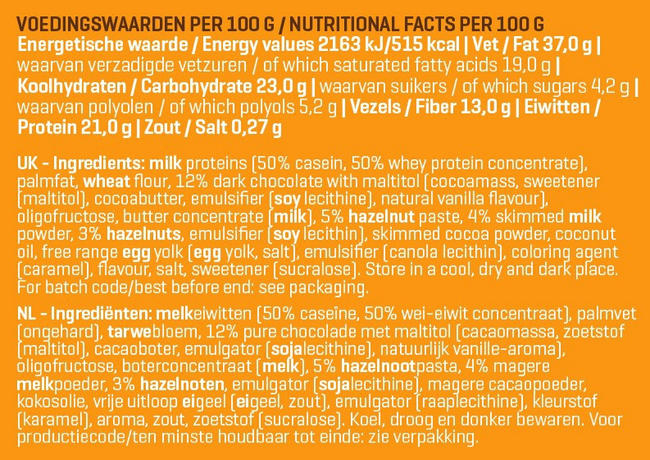 Smart Break Nutritional Information 1