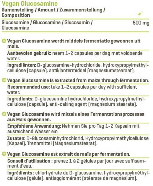 Vegan Glucosamine Nutritional Information 1
