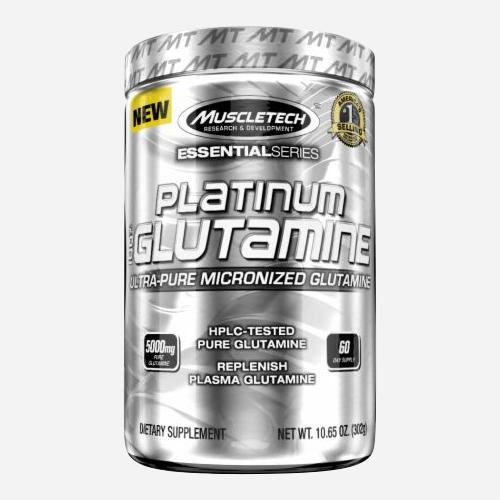 Platinum Glutamine - Muscletech - Utan Smak - 300 Gram