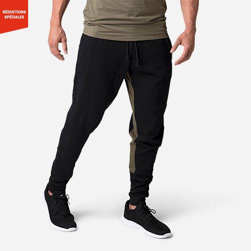 Pantalon sweat Wes pour homme Noir Olive
