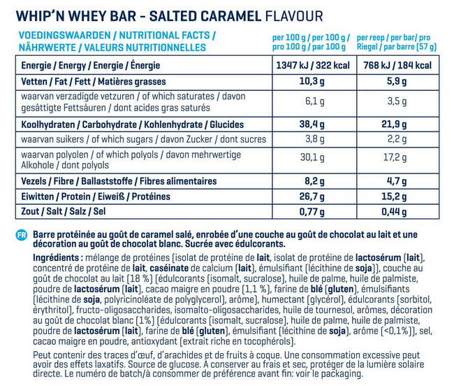 Barres Whip 'N Whey Nutritional Information 7