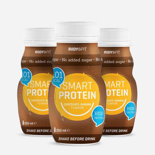 Smart Protein Drinks - Body & Fit - Choklad Banan - 1500 Ml (6 Bitar)