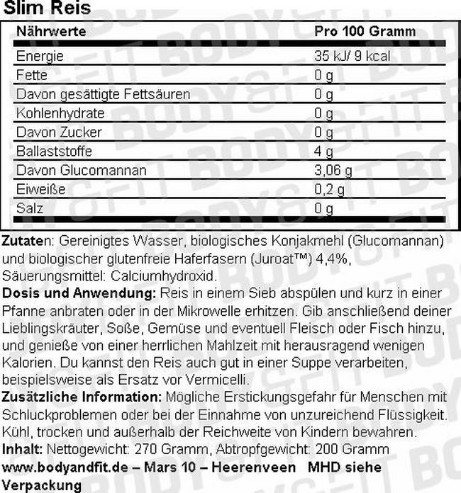 Slim Pâtes Nutritional Information 4