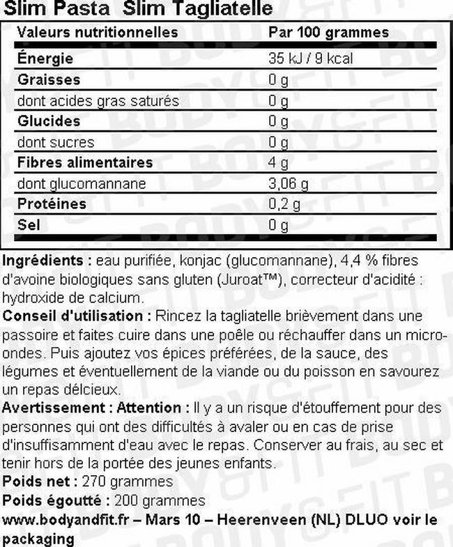 Slim Pâtes Nutritional Information 8