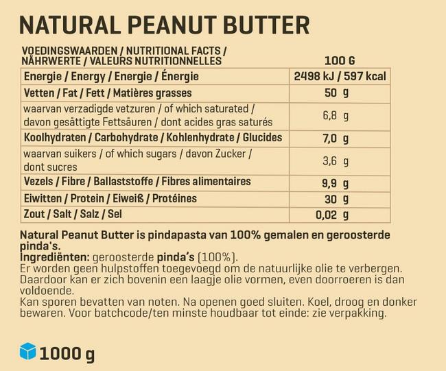 Pindapasta 1 kg Nutritional Information 1