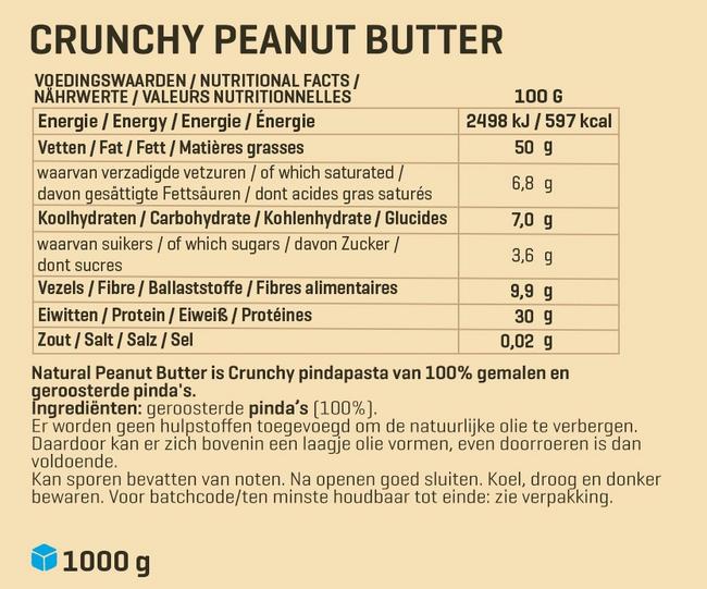 Pindapasta 1 kg Nutritional Information 2