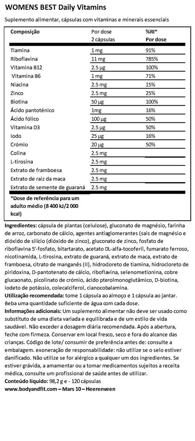 Daily Vitamins Nutritional Information 1