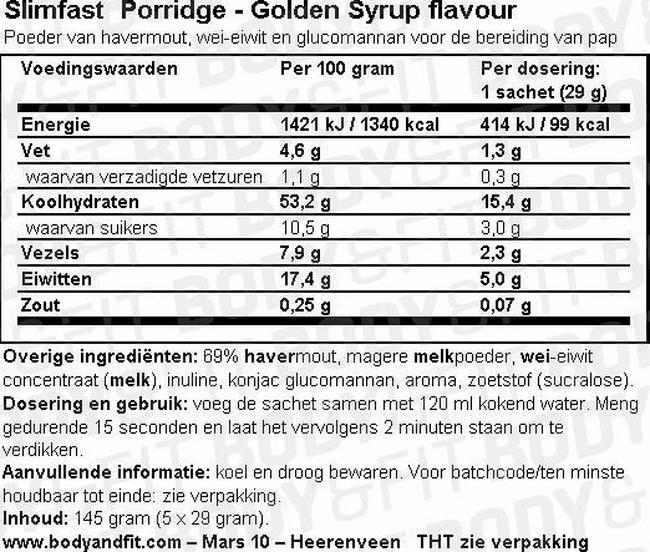 SlimFast 7 Day Kick Start Pack Nutritional Information 5