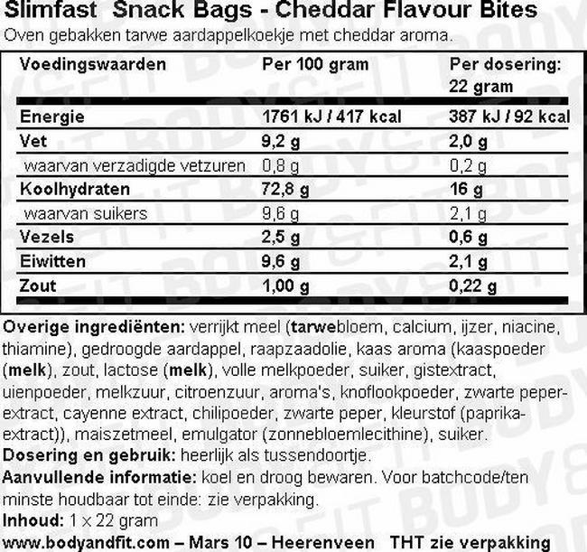 SlimFast 7 Day Kick Start Pack Nutritional Information 7
