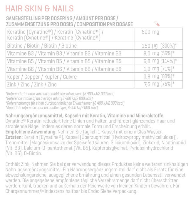 Hair, Skin and Nails Nutritional Information 1