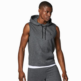 Męska bluza z kapturem bez rękawów w kolorze antra