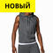 Men's Sleeveless Hoody Серый цвет