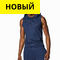Men's Sleeveless Hoody Синий цвет