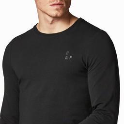 Tシャツ スモールロゴ ブラック Body Fit
