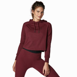Women's Cropped Hoody Ruby