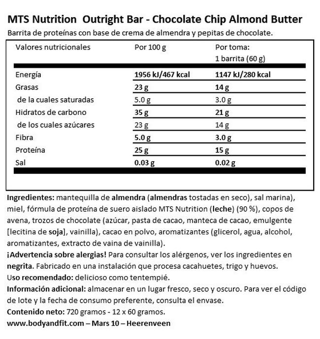Outright Bars (FCP 18.11.2020) Nutritional Information 1