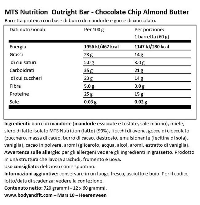 Barretta Outright Nutritional Information 1