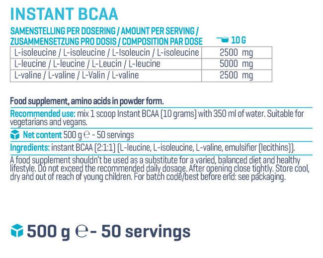 인스턴트 BCAA Nutritional Information 1