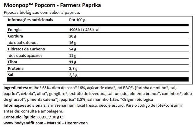 Pipocas Moonpop Nutritional Information 1