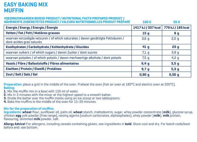 イージーベイキング - マフィン Nutritional Information 1