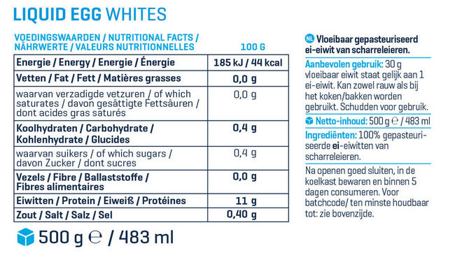 Liquid Egg Whites Nutritional Information 1